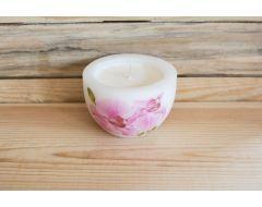 Rapšu vaska svece podiņā