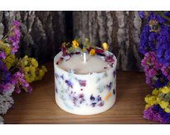 Rapšu vaska svece ar augiem