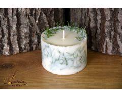 Aromātiska rapšu vaska svece ar kadiķi