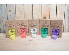 6 aromātiskās rapšu vaska tējassveces krāsainas